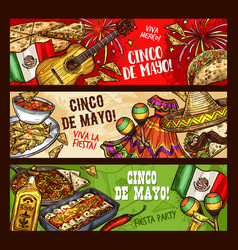 cinco de mayo mexican fiesta viva mexico party vector image