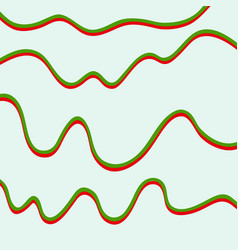 Color hand-drawing wave sea background abstract vector
