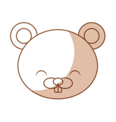 Cute shadow beaver cartoon vector