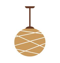 designed beige lamp vector image