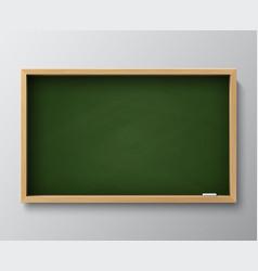 dirty empty blackboard green chalkboard vector image