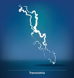 Doodle Map of Transnistria vector