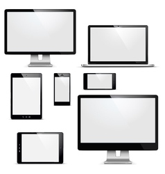 electronic devices set vector image