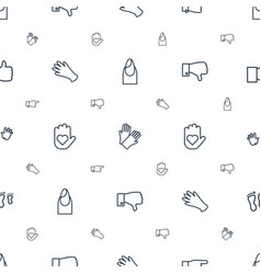Finger icons pattern seamless white background vector