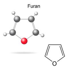 Furan molecule vector
