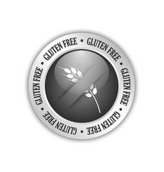 gluten free badge vector image