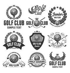 Golf Emblems vector image