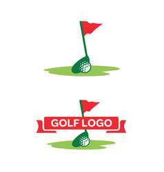 golf-logo vector image