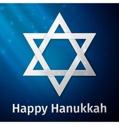 Happy Hanukkah holiday background vector image