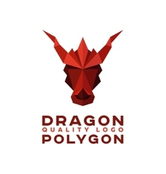 Head polygon dragon origami logo vector
