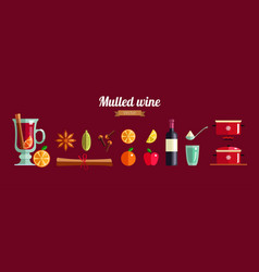 how to make mulled wine infographic concept vector image
