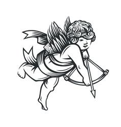 illustration angel vector image