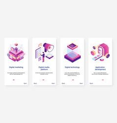 Isometric digital marketing application vector