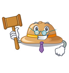 judge cork hat in a cartoon style vector image