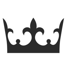 king crown black icon monarch decoration vector image