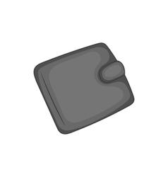 Leather purse icon black monochrome style vector image