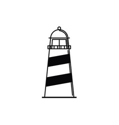 Lighthouse maritime vacation travel icon vector