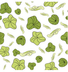 Lily pads scatter pattern seamless repeat vector