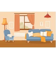 Living room interior concept vector