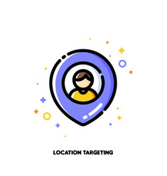 Location-based marketing concept of targeting vector