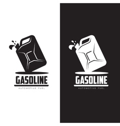 Logo for gasoline canisters vector