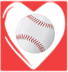love baseball vector image