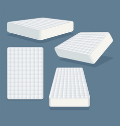 mattress in different positions vector image