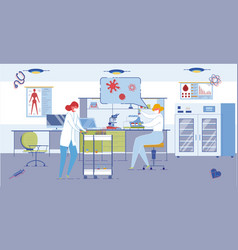 medical or pharmaceutical laboratory interior vector image