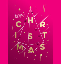 merry christmas abstract minimalist vector image