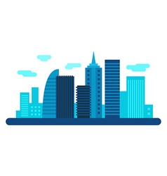 Modern city with scyscrapers City landscape Flat vector image