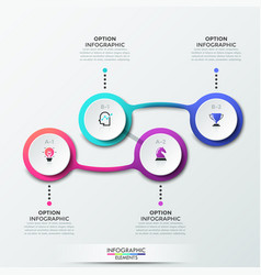 Modern infographic design template vector