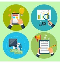 Modern management process vector