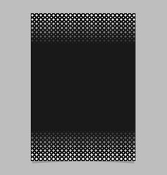 monochrome abstract halftone circle and square vector image