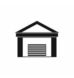 New garage icon simple style vector image