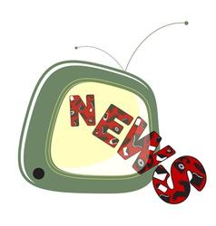 news on tv vector image