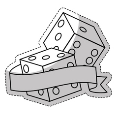 Pair dices icon vector
