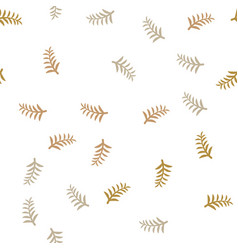 pattern tree branches on white background twig vector image