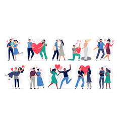 people in love set woman and vector image