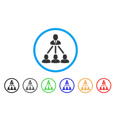 people organization structure rounded icon vector image