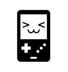 portable video game console kawaii character vector image