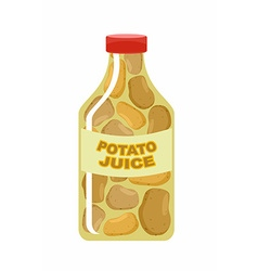 Potato juice Juice from fresh vegetables Potatoes vector