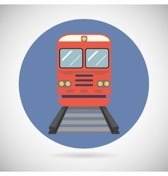 Railway Train Transport Carriage Symbol Railroad vector image