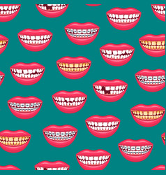 realistic detailed 3d dental problems seamless vector image