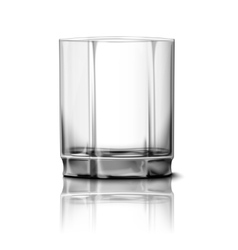 Realistic glass isolated with reflection vector