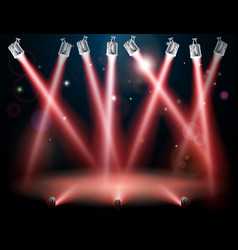 Red spotlights background vector