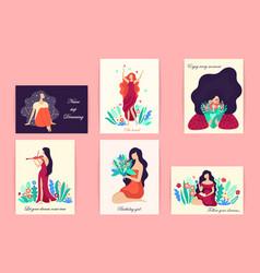 romantic set of cute vector image