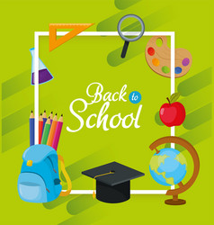 School education accessories design to study vector