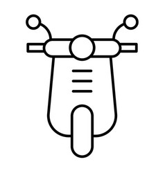 Scooter thin line icon moped vector