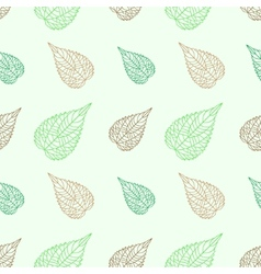 Seamless green leaves mosaic background vector image