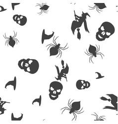 set halloween pattern seamless vector image
